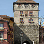 Town Gate Schwarzes Tor In Rottweil Germany Art Print