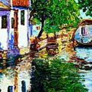 Town With Water Streets Art Print