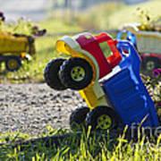 Toy Truck Planters Art Print by Gordon Wood