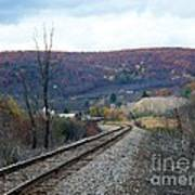 Tracks In The Valley Art Print