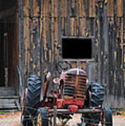 Tractor And The Barn Art Print