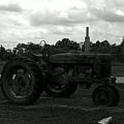 Tractor At The Flats Art Print
