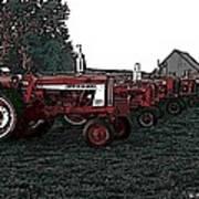 Tractor Row Art Print