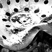 Tractor Seat Close Up Black And White Art Print