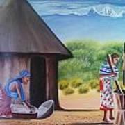 Traditional African Women Art Print