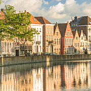 Traditional Brugge Buildings Art Print