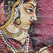 Traditional Painting On A Wall Jodhpur Art Print