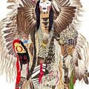 Traditional Pow-wow Dancer 1 Art Print