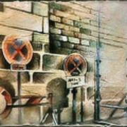 Traffic Signs In Dusseldorf 1982 Art Print by Glenn Bautista