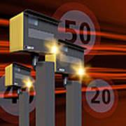 Traffic Speed Cameras Art Print