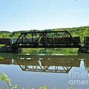 Train And Trestle Art Print