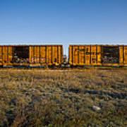 Train Cars Art Print