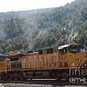 Train In Spanish Fork Canyon Art Print