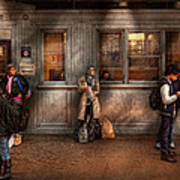 Train - Station - Waiting For The Next Train Art Print