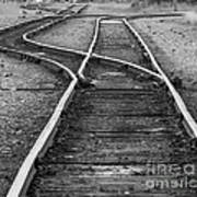 Train Tracks Switch Art Print