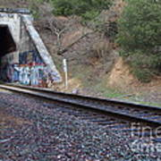 Train Tunnel At The Muir Trestle In Martinez California . 7d10228 Art Print by Wingsdomain Art and Photography
