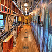 Trains - Post Office Mail Sorting Rail Car Inside I Art Print