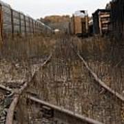 Trainyard In New Buffalo Art Print