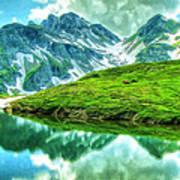 Travelers Rest Swiss Alps Art Print