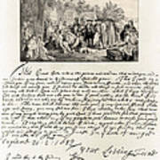 Treaty Between William Penn Art Print