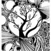 Tree Doodle 58 Art Print
