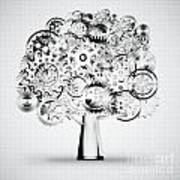 Tree Of Industrial Art Print by Setsiri Silapasuwanchai