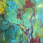 Tree Of Winding Color Art Print