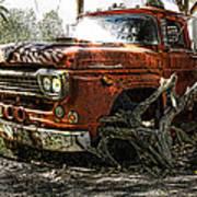 Tree Truck Art Print by Peter Chilelli