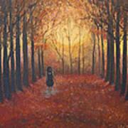 Trees Echo The Footfalls Art Print