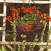 Trellis Flower Pot Art Print