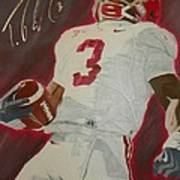 Trent Richardson Alabama Crimson Tide Art Print