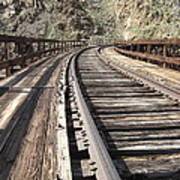 Trestle Tracks Art Print