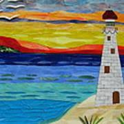 Trinity Lighthouse On The Bay Of Paradise Art Print