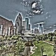 Trippy Houston Art Print