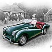 Triumph Tr-2 Sports Car Art Print by David Kyte