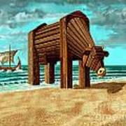 Trojan Cow Art Print by Russell Kightley