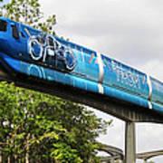Tron A Rail Art Print by David Lee Thompson