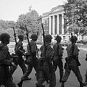 Troops At The University Of Alabama Art Print