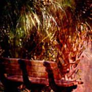 Tropical Bench Art Print by Susanne Van Hulst