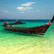 Tropical Boat Art Print