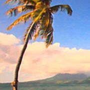 Tropical Island 2 - Painterly Art Print