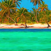 Tropical Island 5 - Painterly Art Print