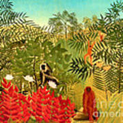 Tropical Jungle By Henri Rousseau Art Print by Pg Reproductions