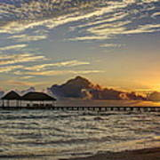 Tropical Ocean Sunset Art Print