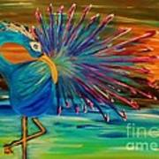 Tropical Peacock Art Print