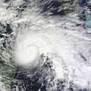 Tropical Storm Ida In The Caribbean Sea Art Print