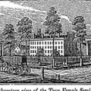 Troy Female Seminary, 1841 Art Print