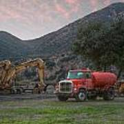 Truck And Tractors In Hdr Art Print