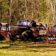 Truck Graveyard Art Print