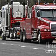 Truck Tow Art Print by Joanne Kocwin